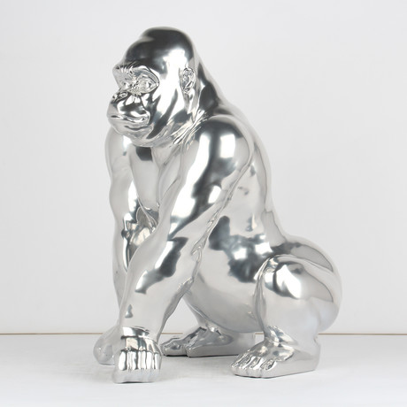 Gorilla Sculpture // Chrome