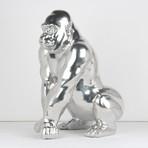 Gorilla Sculpture // Chrome