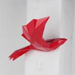 Soaring Bird With Geometric Pattern // Red