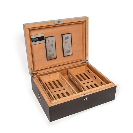 Donovan Large Cigar Humidor Box (Black)