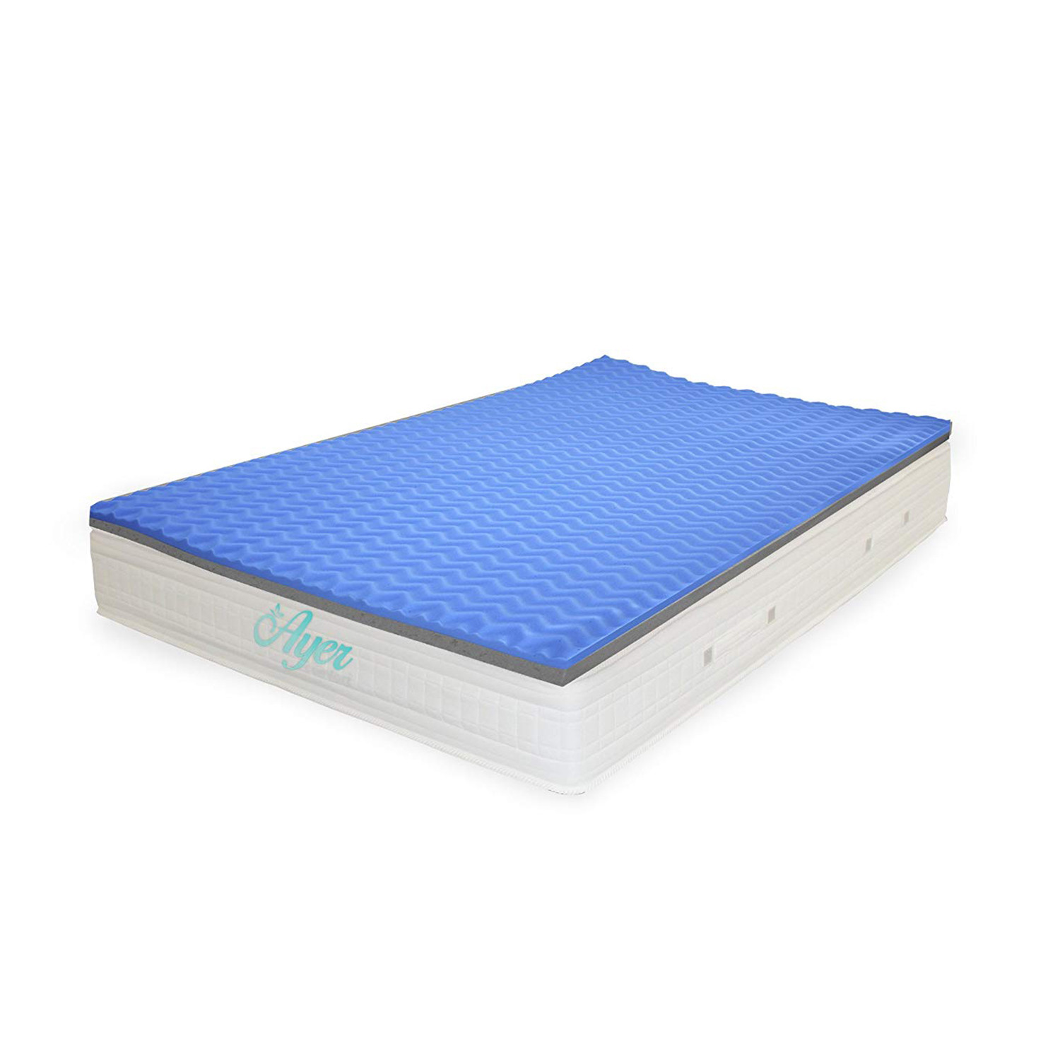 double sided memory foam mattress topper twin ayer. Black Bedroom Furniture Sets. Home Design Ideas