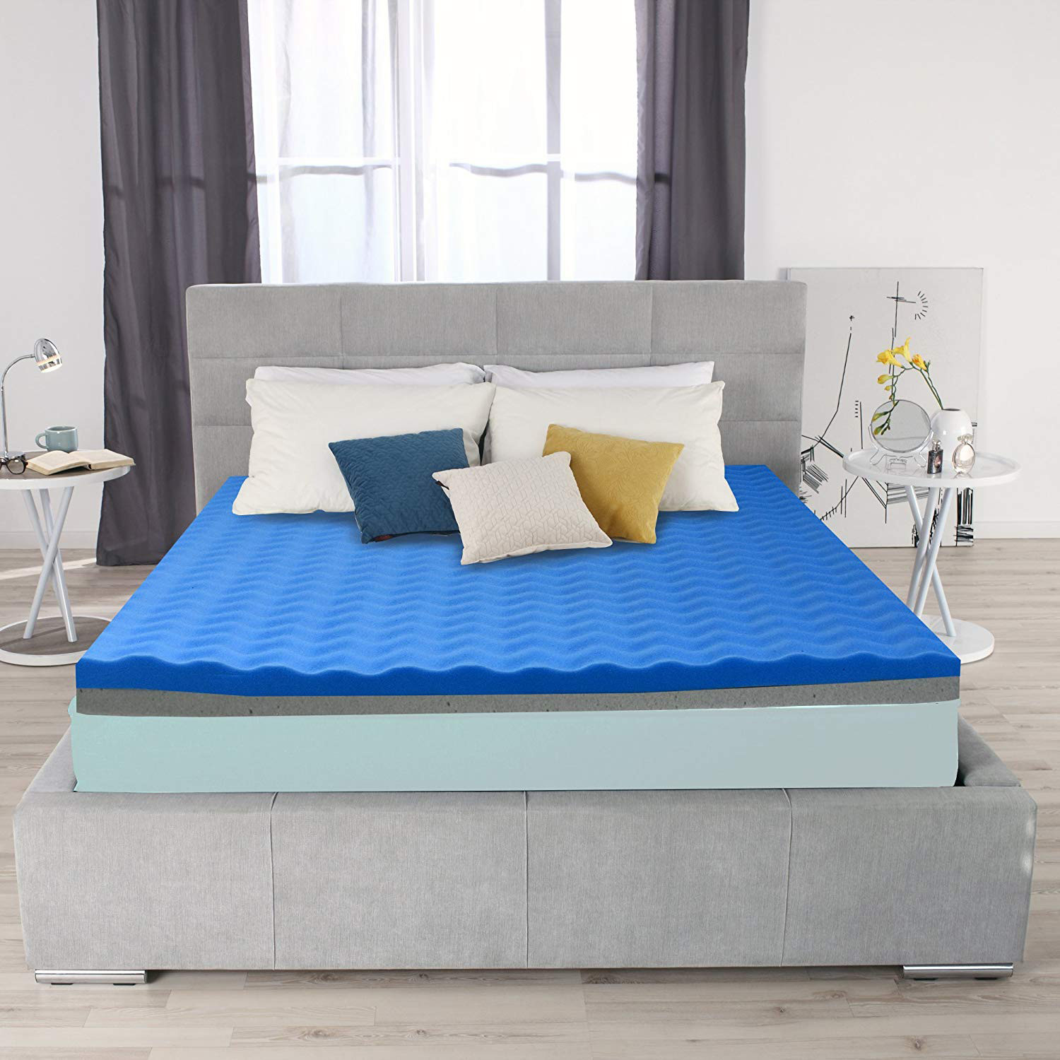 Double Sided Memory Foam Mattress Topper Cal King Ayer Comfort