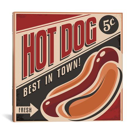 "Hot Dogs // Honeymoon Hotel (18""W x 18""H x 0.75""D)"