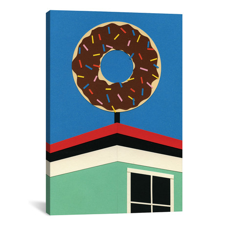 "LA Donut Corner // Rosi Feist (26""W x 18""H x 0.75""D)"