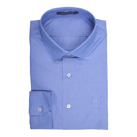Roberto Cavalli // Arten Woven Shirt // Blue (Euro: 38)