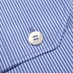 Kipling Woven Shirt // Blue (Euro: 41)