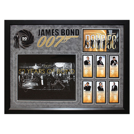 Signed + Framed Collage // Bond 50th Anniversary