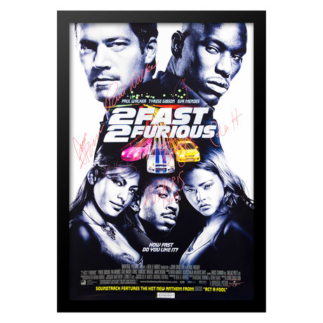 Cast Signed Movie Poster // 2 Fast 2 Furious