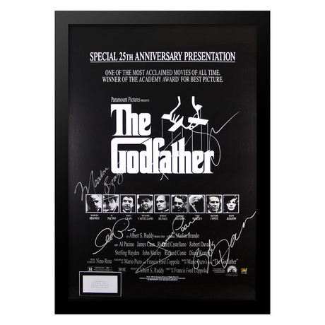 Signed Poster // The Godfather 25th Anniversary