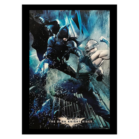 Signed Movie Poster // Dark Knight Rises