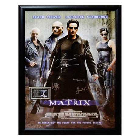Signed Movie Poster // The Matrix
