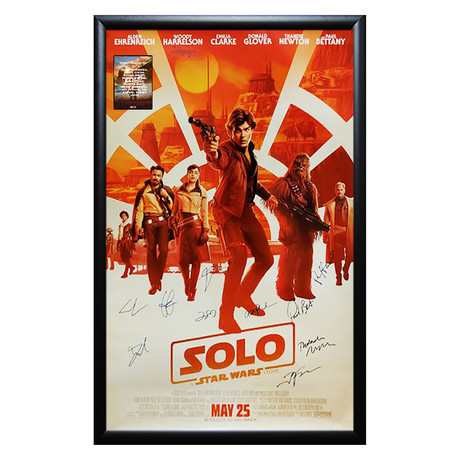 Framed Autographed Poster // Solo: A Star Wars Story // Poster I