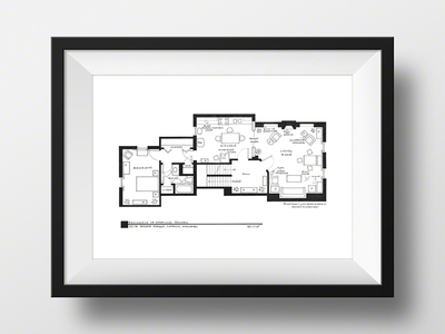 """Photo of Fantasy Floorplansâ""""¢ Blueprints of Fictional Spaces Sherlock Holmes Apartment // Artist Signed (Black) by Touch Of Modern"""