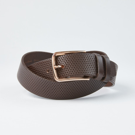 "Perforated Belt // Brown (Size 30"")"
