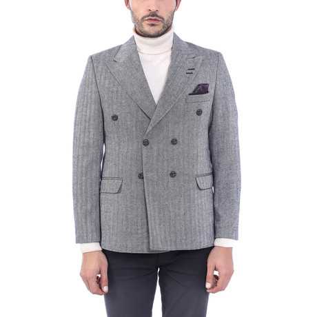 Double Breasted Blazer III // Gray (Euro: 44)