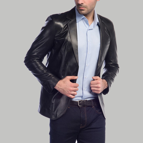 Marco Leather Jacket // Black (XS)