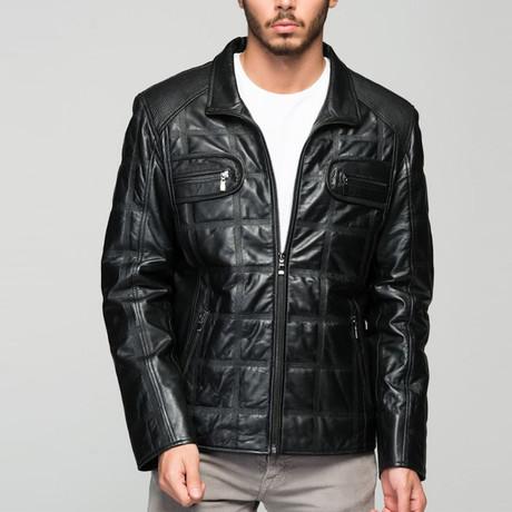 Enzo Leather Jacket // Black (XS)