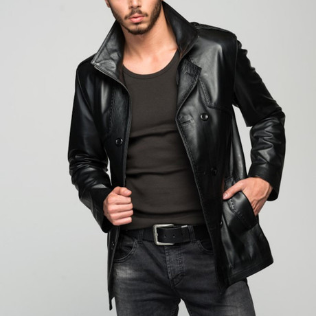 Capponi Leather Jacket // Black (XS)