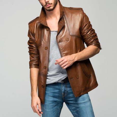 Malara Leather Jacket // Tobacco (XS)