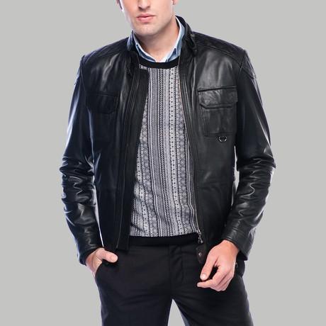 Giovanni Leather Jacket // Black (XS)