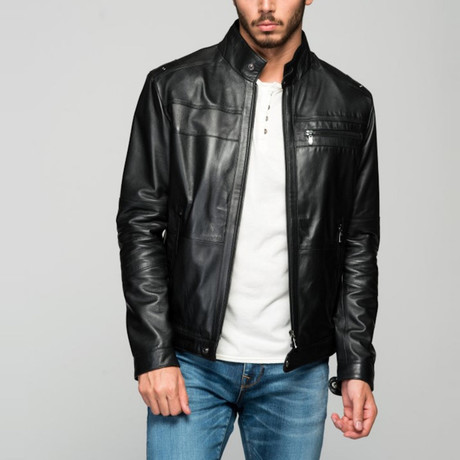 Roberto Leather Jacket // Black (XS)