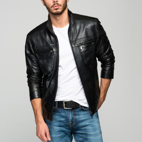 Costanza Leather Jacket // Black (XS)