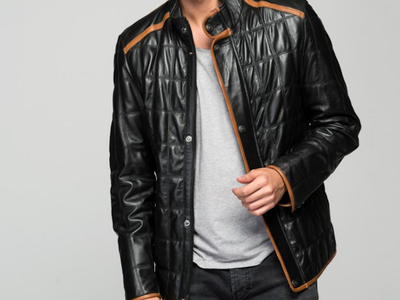 Photo of CLEARANCE: Outerwear We've Got You Covered Aimone Leather Jacket // Black (S) by Touch Of Modern