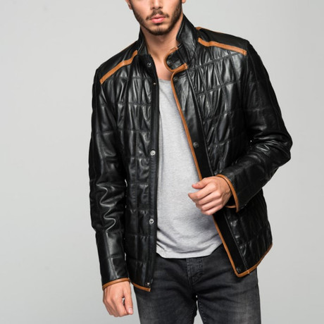 Aimone Leather Jacket // Black (S)