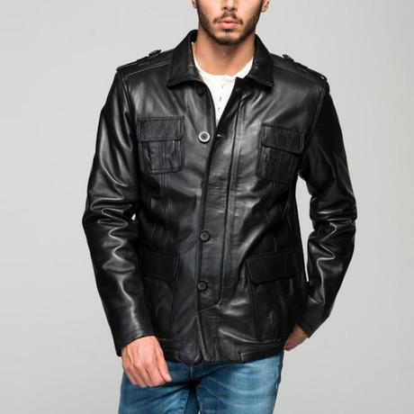 Alessio Leather Jacket // Black (XS)