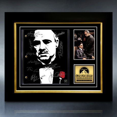 The Godfather Script // Limited Edition // Custom Frame