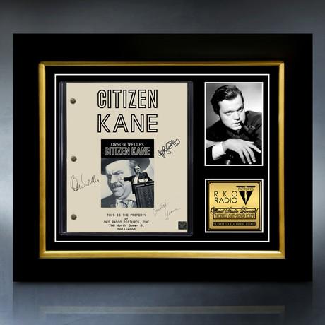 Citizen Kane Script // Limited Edition // Custom Frame