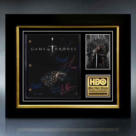 Game Of Thrones Script // Limited Edition // Custom Frame