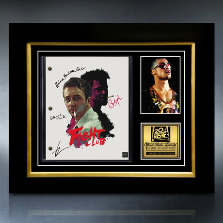 Fight Club Script // Limited Edition // Custom Frame