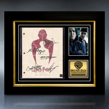 Harry Potter And The Half-Blood Prince Script // Limited Edition // Custom Frame