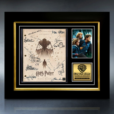Harry Potter And The Deathly Hallows Script // Limited Edition // Custom Frame