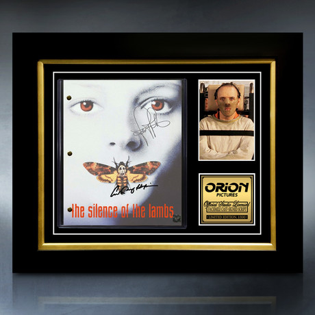 The Silence Of The Lambs Script // Limited Edition // Custom Frame