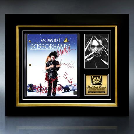 Edward Scissorhands Script // Limited Edition // Custom Frame