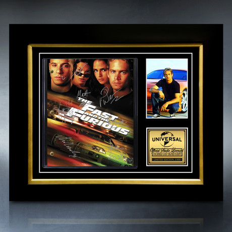 The Fast And The Furious Script // Limited Edition // Custom Frame