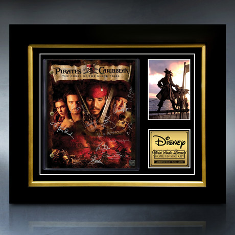 Pirates Of The Caribbean: The Curse Of The Black Pearl Script // Limited Edition // Custom Frame