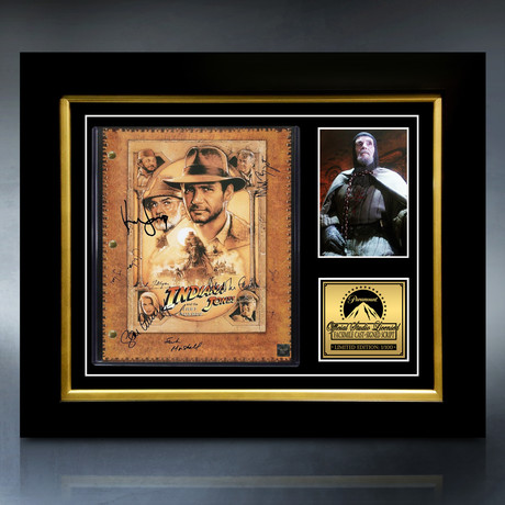 Indiana Jones And The Last Crusade Script // Limited Edition // Custom Frame