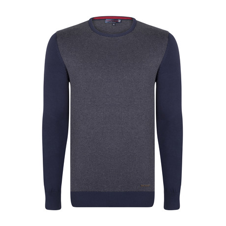Jase Pullover // Navy + Gray (XS)