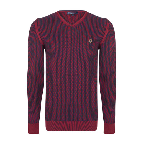 Deacon Pullover // Bordeaux + Navy (XS)