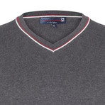 Jair Pullover // Gray + Ecru + Bordeaux (XL)