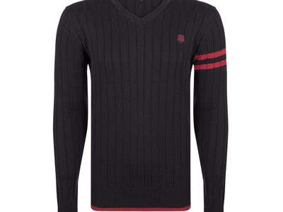 Photo of Giorgio di Mare Essential Fall Layering Dexter Pullover // Black + Bordeaux (S) by Touch Of Modern