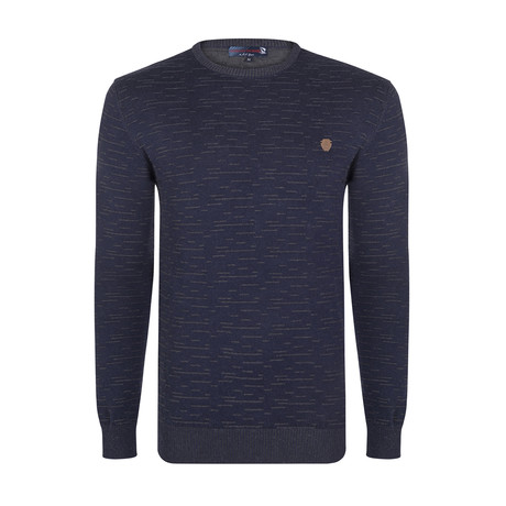 Princeton Pullover // Navy + Gray (S)