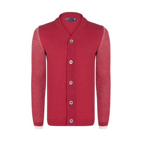 Locla Knitwear Jacket // Bordeaux (S)