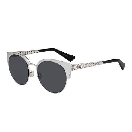 Diorama Mini Sunglasses // Sliver + Gray (50mm)