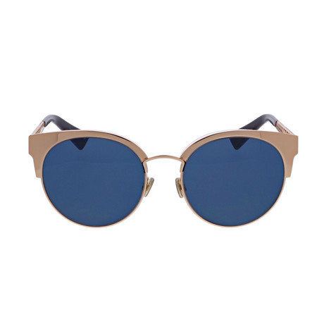 Dior // Men's Diorama Mini Sunglasses // Gold + Gray