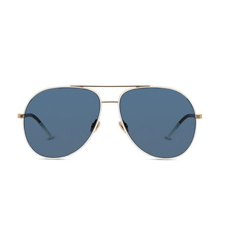 Dior // Men's Diorastral Sunglasses // White Gold + Gray