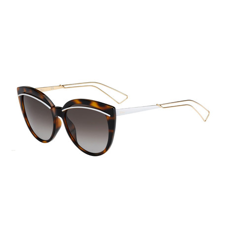 Dior // Women's Diorliner Sunglasses // Havana + Brown Gradient